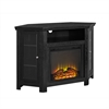 "Walker Edison 48"" Corner Fireplace TV Stand - Black"