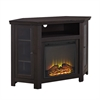 "Walker Edison 48"" Corner Fireplace TV Stand - Espresso"