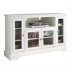 "Walker Edison 52"" Highboy Style Wood TV Stand - White"