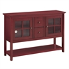 "Walker Edison 52"" Wood Console Table TV Stand - Antique Red"
