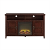 """52"""" Rustic Chic Fireplace TV Stand - Coffee"""