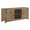 "58"" Barn Door TV Stand with Side Doors - Barnwood"