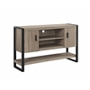 "Walker Edison 60"" Urban Blend TV Console Table / Buffett - Driftwood/Black"