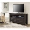 "Walker Edison 44"" Brown Wood TV Stand Console"