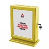 Customizable Wood Suggestion Box-Yellow