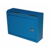 Adir Corp Deluxe Steel Drop box, Blue