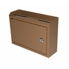 Adir Corp Deluxe Steel Drop box, Coffee