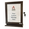 ADIR Customizable Wood Suggestion Box - Mahogany