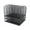 Mesh Desk Organizer with Two Horizontal and Six Upright Sections