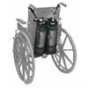 AdirMed Double Oxygen Bag for Wheelchair, D & E Cylinders