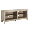 "Walker Edison 58"" Natural Wood TV Stand Console"