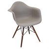 Neo Flair Mid-Century Modern Chairs in Cappuccino and Espresso, Set of 2