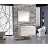 """MTD Vanities Nepal 41"""" Single Sink Wall Mounted Bathroom Vanity Set, White"""