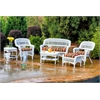 Tortuga Outdoor Portside 6Pc Seating - White - Eastbay Pompeii