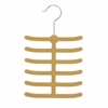 Honey Can Do 20-Pack 12 Hook Tie Hanger- Tan, Camel