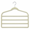 Honey Can Do 10-Pack Velvet Touch 4-Step Pant Hanger, White, Ivory