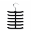 20-Pack 12 Hook Tie Hanger- Black