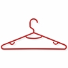 60-Pack Recycled Plastic Hangers- Red