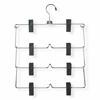 4-Tier Fold Up Skirt Hanger, 2-Pack, Chrome / Black