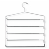 5-Tier Swinging Arm Pant Rack, Chrome/Black, 2-Pack