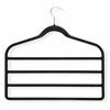 Honey Can Do 4-Pack Velvet Touch 4-Step Hanger, Black