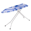 Metal Ironing Board 4 Leg, White/Blue