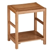 Honey Can Do Bamboo Spa Bench, Natural Bamboo