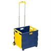 Rolling, Folding Carry-All Crate, Blue/Yellow