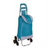 Honey Can Do Bag Cart With Tri-Wheels, Blue