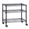 3-Shelf Steel Cart, Black