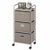 Honey Can Do 3 Drawer Rolling Cart Grey
