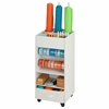 Storage Cart W Fabric Drawer