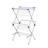 Honey Can Do 2-Tier Mesh Top Drying Rack 33 Linear Feet, Gray/Blue