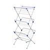 Honey Can Do 3-Tier Mesh Top Drying Rack 43 Linear Feet, Silver/Blue