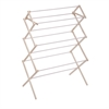 Honey Can Do Wood Knockdown Drying Rack- 24 Linear Feet, Natural / White