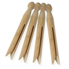 Honey Can Do 100-Pack Traditional Wood Clothespins, Natural