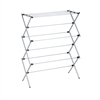 Oversize Folding Drying Rack, Silver Powder Coat