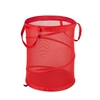 Honey Can Do Large Mesh Pop Open Hamper, Red
