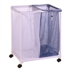 2 Bag Mesh Laundry Sorter, Blue / White