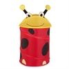 Honey Can Do Medium Kid's Pop-Up Hamper - Lady Bug, Yellow / Red