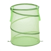 Honey Can Do Large Mesh Pop Open Hamper, Lime Green