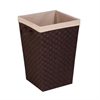 Honey Can Do Woven Strap Hamper With Liner, Espresso/Black