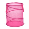Honey Can Do Large Mesh Pop Open Hamper, Pink