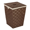 Woven Hamper With Liner, Brown