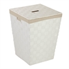 Honey Can Do Woven Hamper With Liner, White
