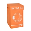Graphic Hamper, Washing Machine Orange