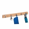 Honey Can Do 5-Hook Wall Hanger, Bamboo
