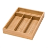 Bamboo 4 Compartment Cutlery Tray
