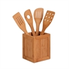 Bamboo Utensils And Kitchen Caddy