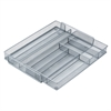 Honey Can Do Steel Mesh Expandable Cutlery Tray, Gray/Silver